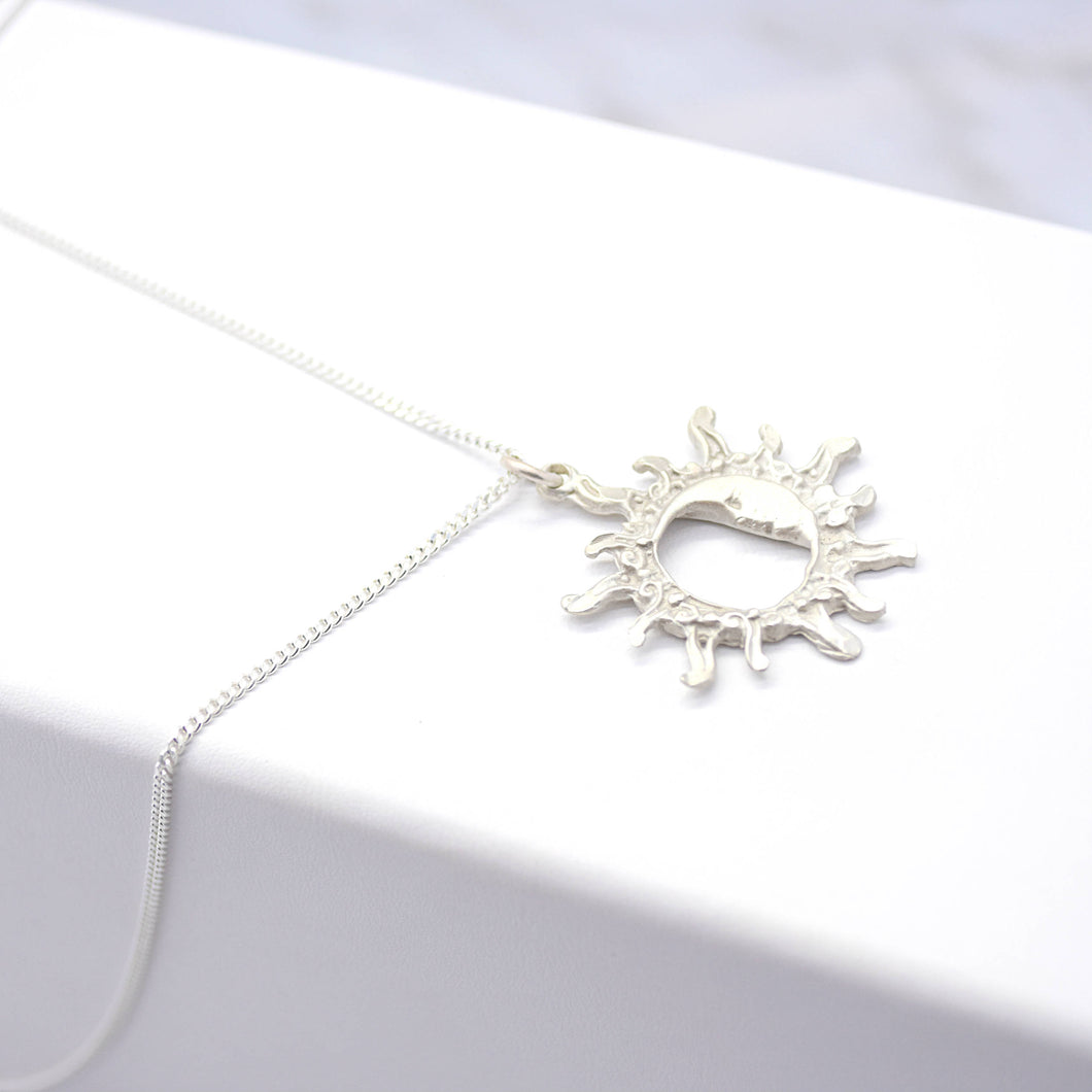 Sun and Moon Silver Necklace