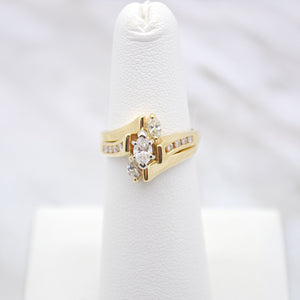Diamond Marquise Wedding Set