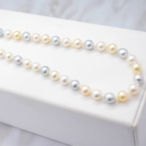 Multi-Coloured Akoya Pearl Necklace
