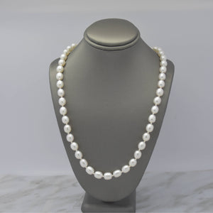 Semi-round Freshwater Pearl Necklace