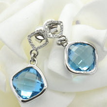 blue topaz earrings - Sutton Smithworks
