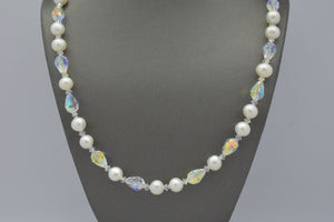 Classic Pearl Strand with Crystal Beads