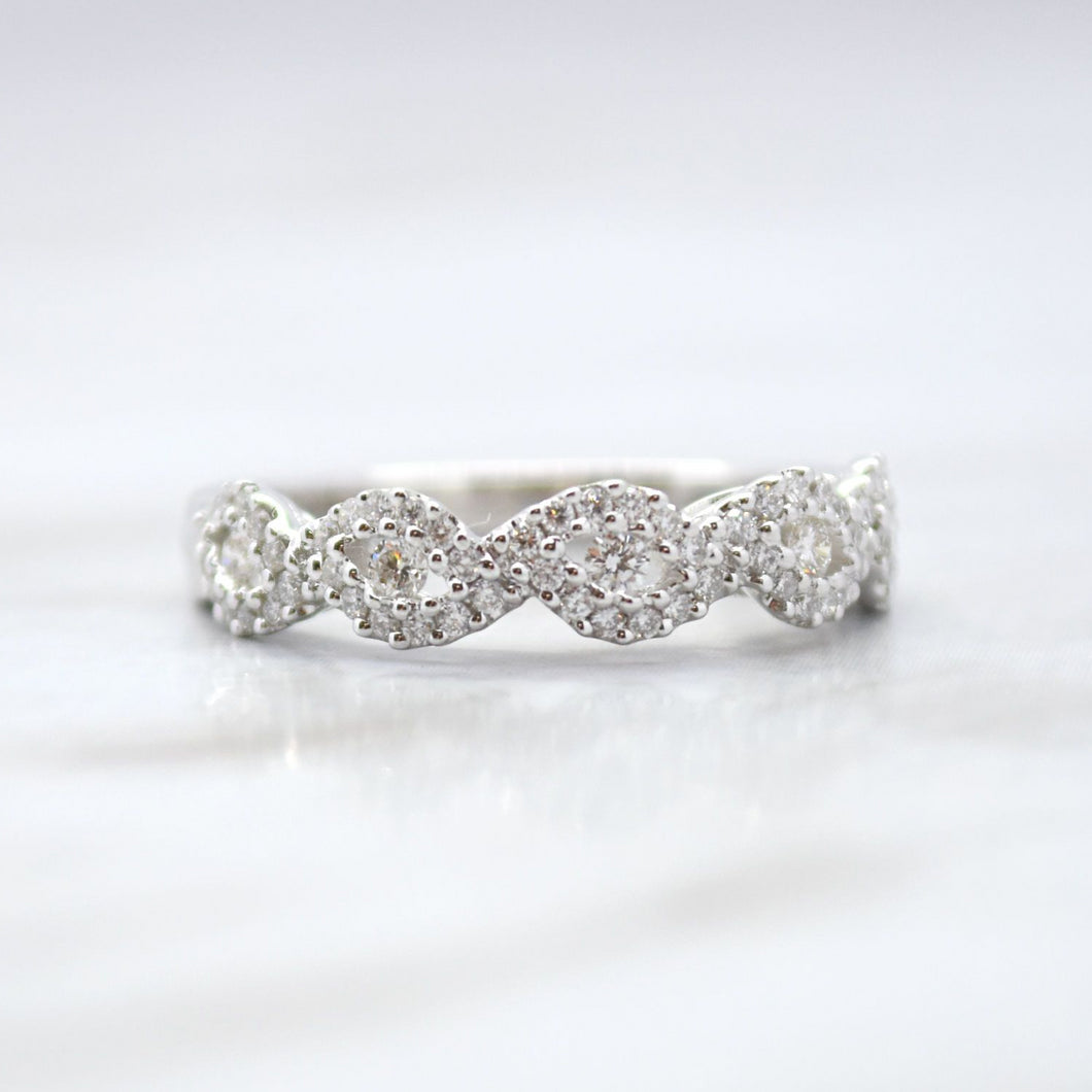 infinity wedding band white gold
