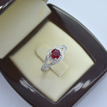 natural ruby diamond ring white gold