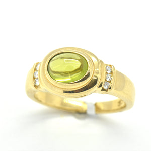 peridot diamond ring -sutton smithworks