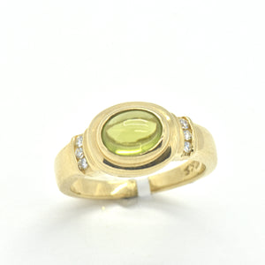 peridot diamond ring - sutton smithworks