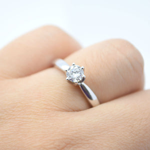 classic six prong diamond engagement ring