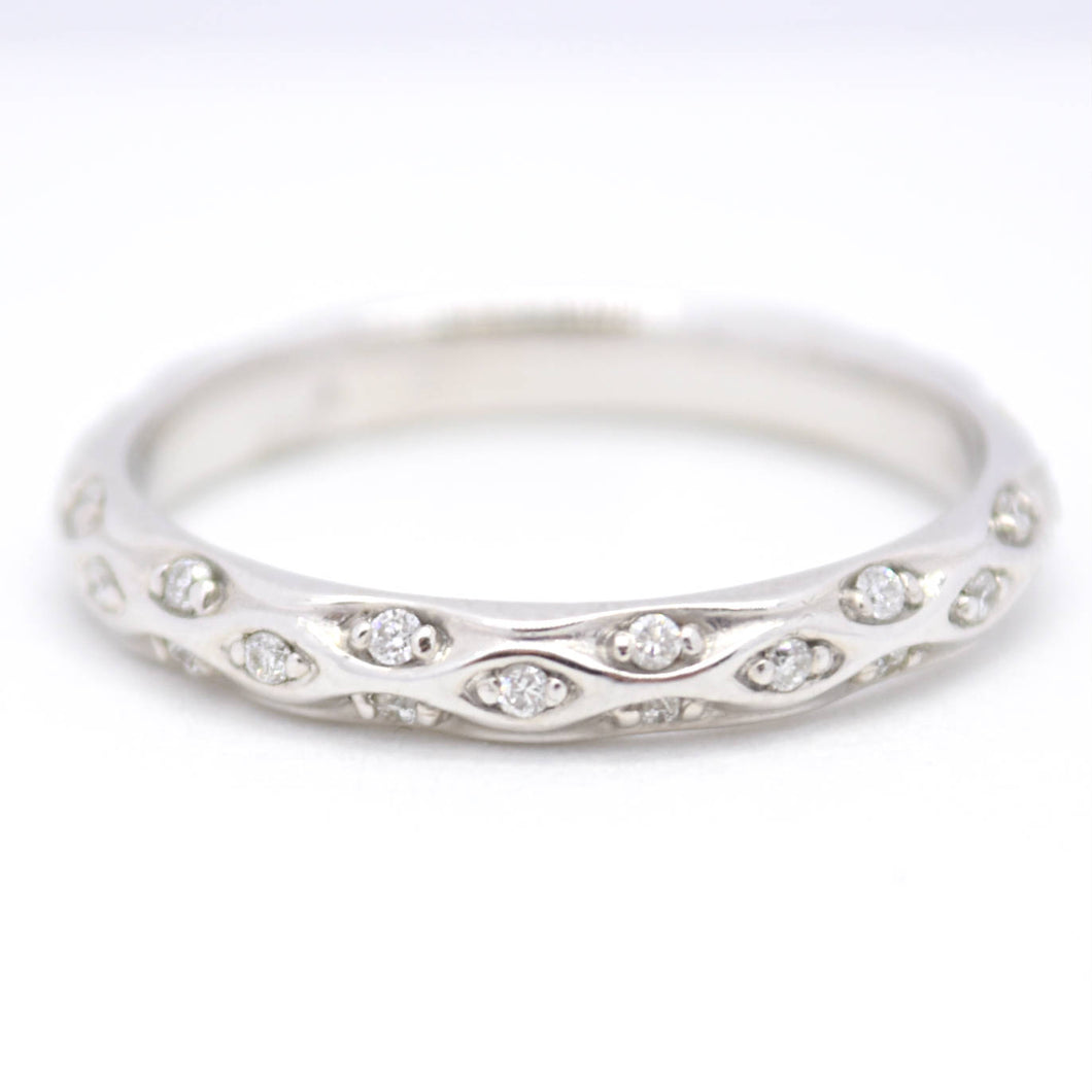 sculptural inspired wedding band