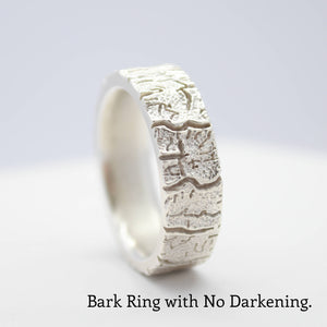 bark tree wedding band