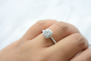 Cushion Halo Cluster Ring