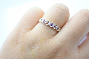 colourful garnet promise ring