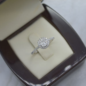 cluster diamond engagement ring winnipeg