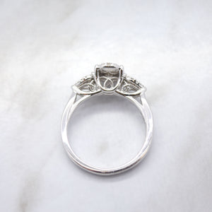 Oval Halo Cluster Engagement Ring