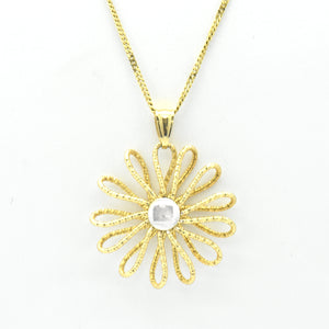 daisy flower wire gold necklace - sutton smithworks