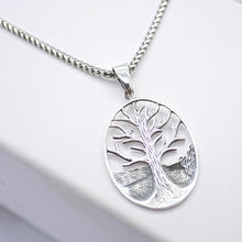 tree of life oblong necklace