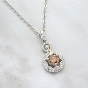 victorian star cinnamon diamond necklace