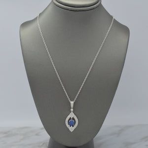 Art Deco Inspired Sapphire Necklace