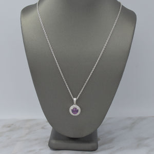 Purple Sapphire & Diamond Necklace