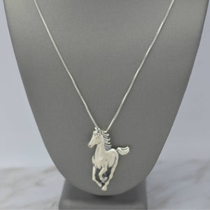 running horse sterling silver necklace