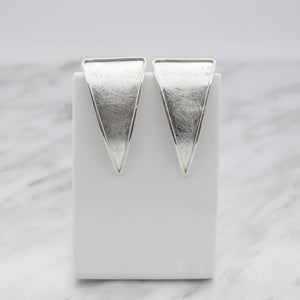 Triangle Earrings in Brushed Finish