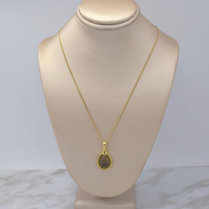 Teardrop Smokey Topaz Necklace