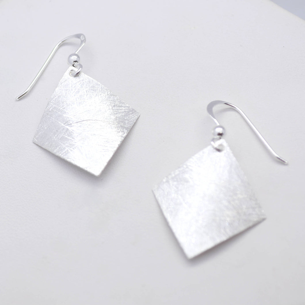 square sterling silver earrings