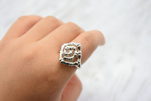 Twisted Knot Silver Ring
