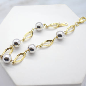 yellow and white gold marquise bracelet