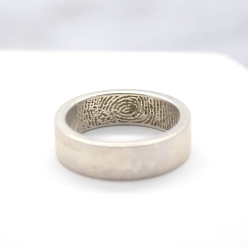 secret fingerprint wedding band