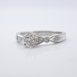 Accented Diamond Engagement Ring