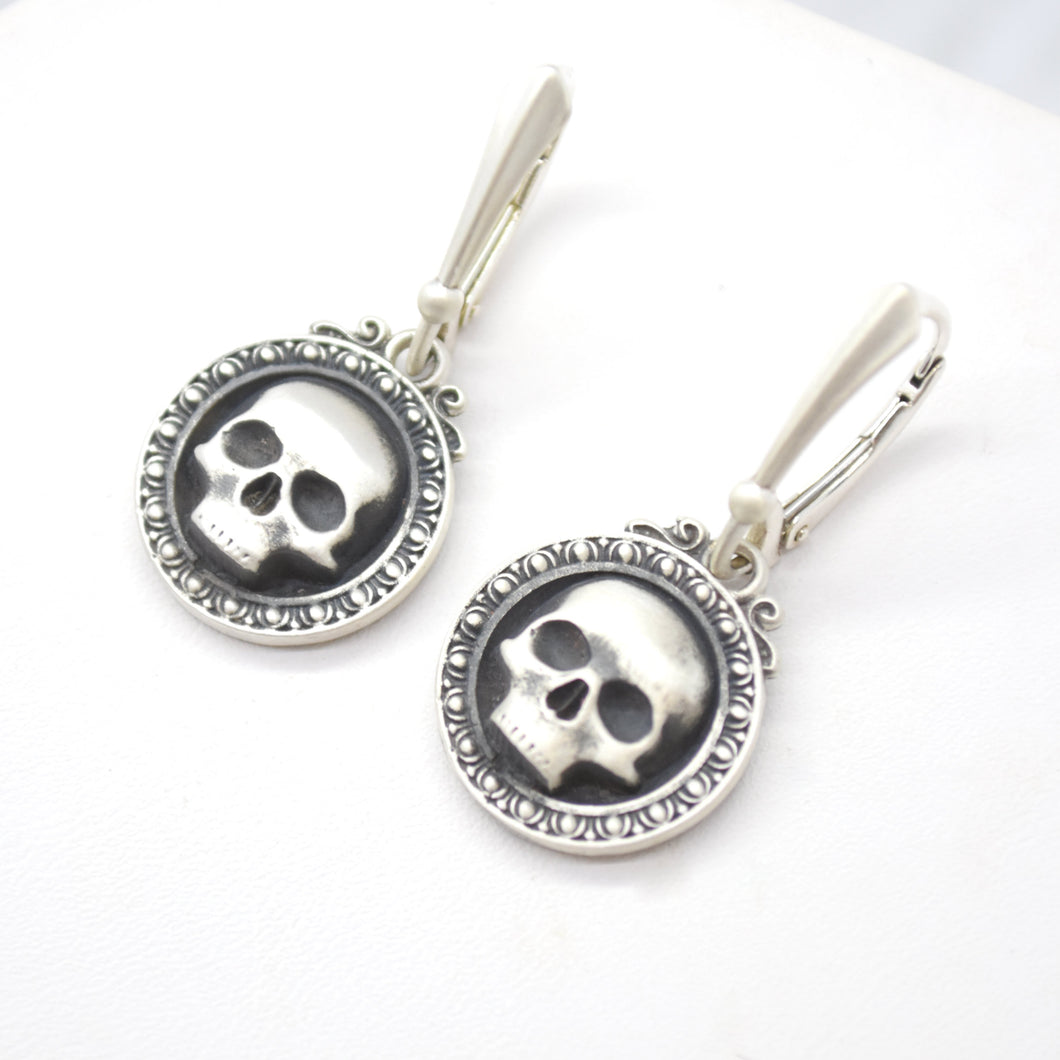 reaper sterling silver earrings