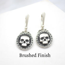 skull gothic sterling silver earrings