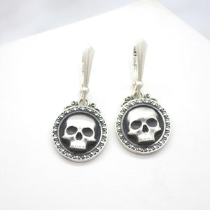 reaper sterling silver earrings gothic