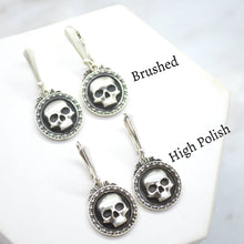 skull sterling silver earrings