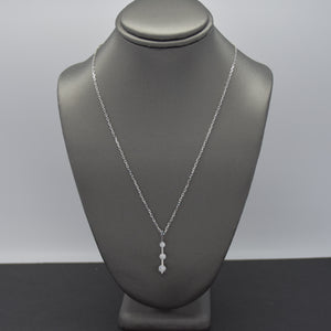 Three-Stone Lab Diamond Pendant
