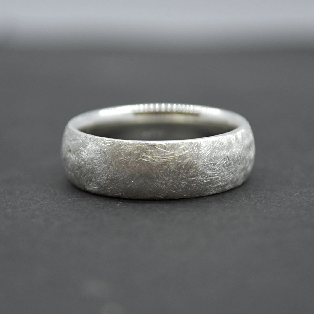 Comfort Fit Wedding Band in Diamond Brush
