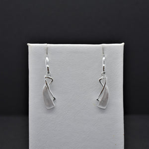 Abstract Silver Earrings
