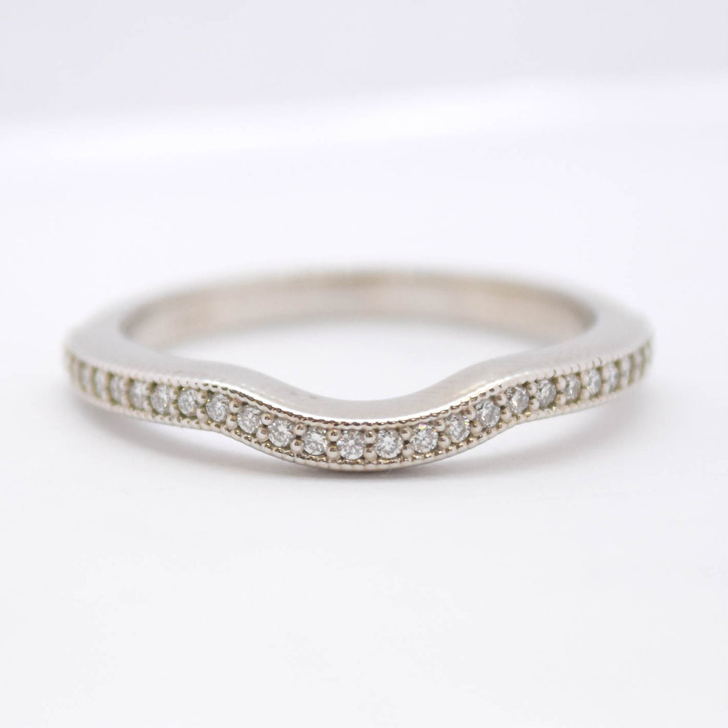 Diamond Half Moon Band with Milgrain