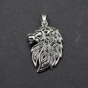 celtic lion head pendant necklace