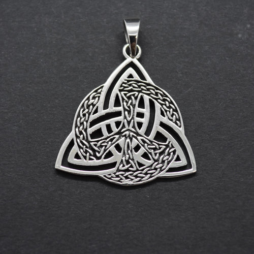 Silver Celtic Trinity Pendant Necklace