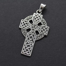 Celtic Circle Cross Pendant Necklace
