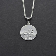 paw print necklace silver