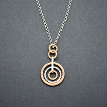 Two-Tone Multi Circle Pendant Necklace