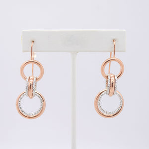 Two-Tone Circle Earrings