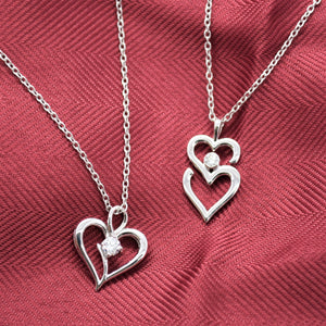 heart necklace with lab diamonds sutton smithworks