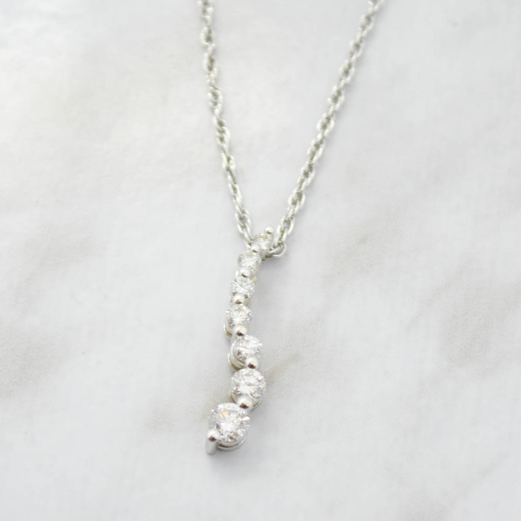 Diamond Graduated Pendant Necklace