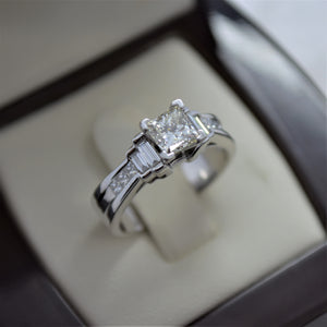 princess cut diamond white gold ring