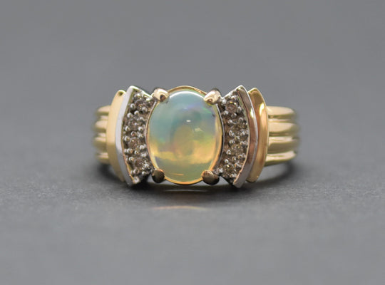 ethiopian opal diamond ring sutton smithworks