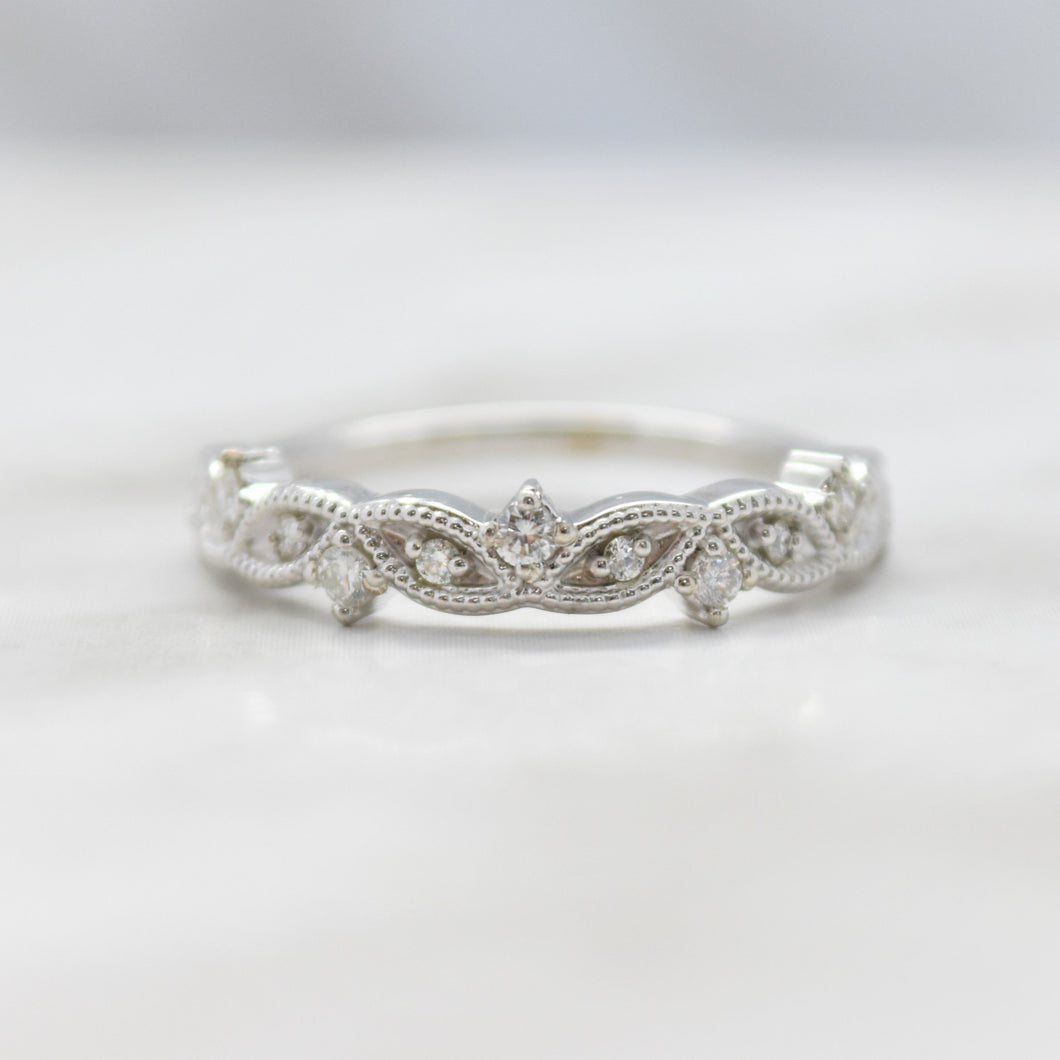 Vintage Inspired Milgrain Diamond Ring