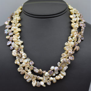 Keshi Pearl Three-Strand Necklace